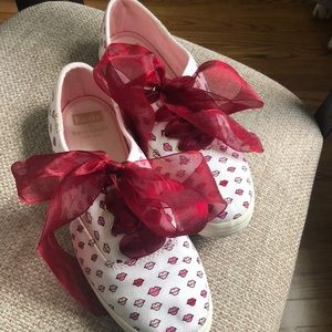 Kate Spade x Keds Red Lip Print Sneakers Size 7